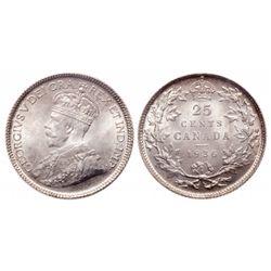 25 Cents. 1936. ICCS MS-65.