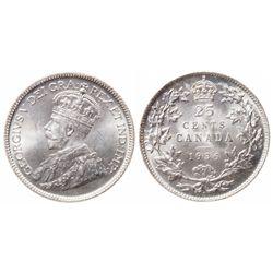 25 Cents. 1936. Dot. ICCS MS-65.