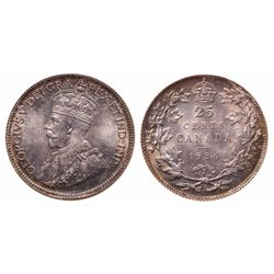 25 Cents. 1936. Bar. ICCS MS-65.