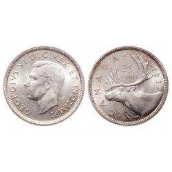25 Cents. 1937. ICCS MS-65.