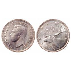25 Cents. 1938. ICCS MS-65.