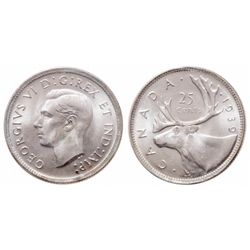 25 Cents. 1939. ICCS MS-65.