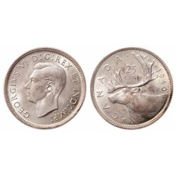 25 Cents. 1940. ICCS MS-67.