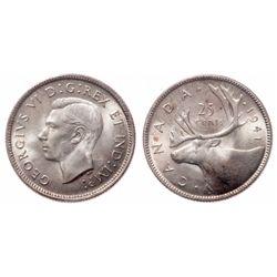 25 Cents. 1941. ICCS MS-66.