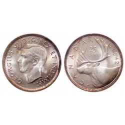 25 Cents. 1942. ICCS MS-66.