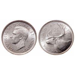 25 Cents. 1942. ICCS MS-65.