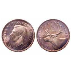 25 Cents. 1943. ICCS MS-66.