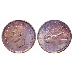 25 Cents. 1944. ICCS MS-65.