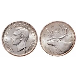 25 Cents. 1945. ICCS MS-65.