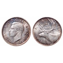 25 Cents. 1947. ICCS MS-65.