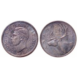 25 Cents. 1947. Dot. ICCS MS-65.