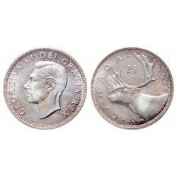 25 Cents. 1948. ICCS MS-65.