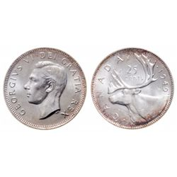 25 Cents. 1949. ICCS MS-65.