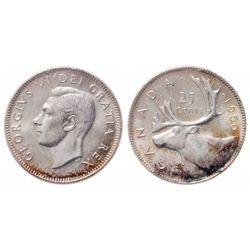 25 Cents. 1950. ICCS MS-65.