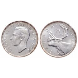 25 Cents. 1952. Low Relief. ICCS MS-65.