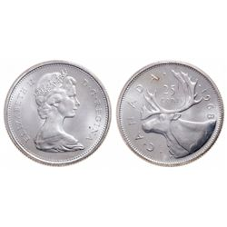 25 Cents. 1968. Silver. ICCS MS-67.