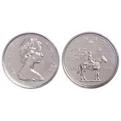 25 Cents. 1973. Large Bust. ICCS PL-66.