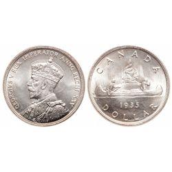 $1.00. 1935. ICCS MS-67.