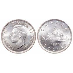 $1.00. 1937. ICCS MS-65.