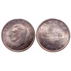 $1.00. 1938. ICCS MS-66.