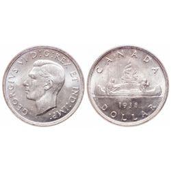 $1.00. 1938. ICCS MS-65.