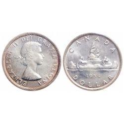 $1.00. 1954. ICCS MS-65.