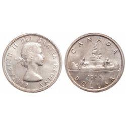 $1.00. 1955. ICCS MS-65.