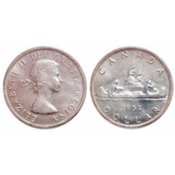 $1.00. 1957. ICCS MS-65.