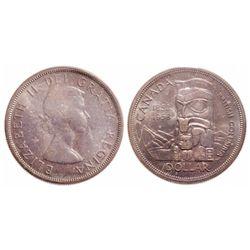 $1.00. 1958. ICCS MS-66.