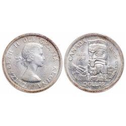 $1.00. 1958. ICCS MS-65.
