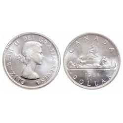 $1.00. 1961. ICCS MS-65.