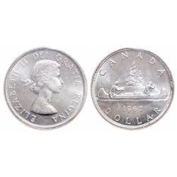 $1.00. 1962. ICCS MS-65.