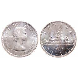 $1.00. 1963. ICCS MS-65.
