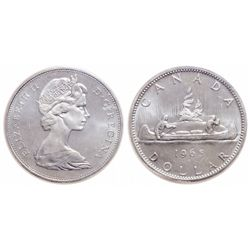 $1.00. 1965. Small Beads, Pointed 5. ICCS MS-65.