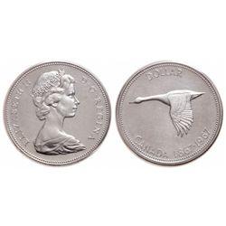 $1.00. 1967. Upset Dies. ICCS MS-64.