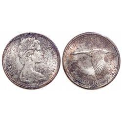 $1.00. 1967. ICCS MS-66.