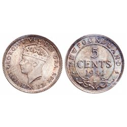 5 Cents. 1941C. ICCS MS-65.