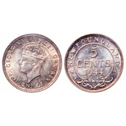 5 Cents. 1944C. ICCS MS-65.