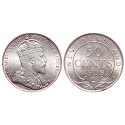 50 Cents. 1908. ICCS MS-65.