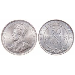 50 Cents. 1911. ICCS MS-65.