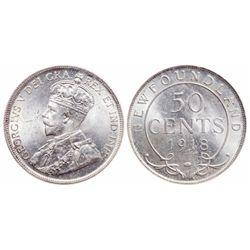 50 Cents. 1918C. ICCS MS-65.