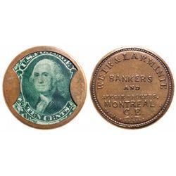 Breton-568. Weir & Larminie Token. 10 Cents. 1862. ICCS EF-40.