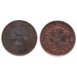 T. Church. Ottawa, Ont. Collector of Canadian Coins. Bowman 8-27. Copper.….