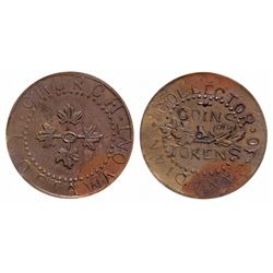T. Church. Ottawa, Ont. Collector of Canadian Coins. Bowman-8-27. Copper.….