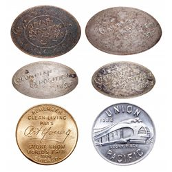 Lot of Elongated Canadian Coins - 1893 Columbian Exposition.