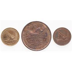 LeRoux-1581b. HUDSON'S BAY COMPANY. S.S. Beaver medal Charlton Medal#6045….
