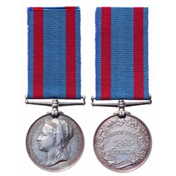 1885 North West Canada Medal With Ribbon.