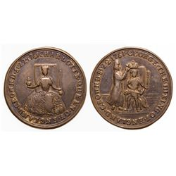 Hanover Coronation Medal. George III, with Charlotte. 1760-1820. Very Fine.