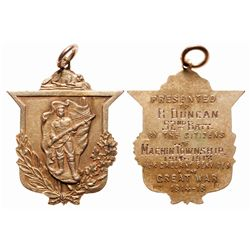 10k Gold WWI Welcome Home Medal.