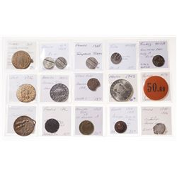 MISCELLANEOUS LOT. Counterfeits, copies, tokens, medallions and other unusual coinage.